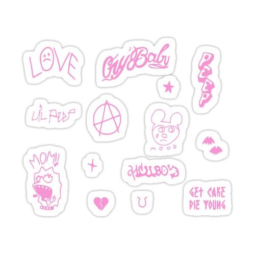 Lil Peep Pink Tattoo Sticker Pack Sticker