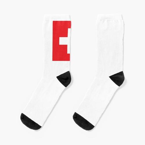 Schweizerisch. Schweiz. Schweizer Flagge. Flagge der Schweiz. Weißes Kreuz. Schweizerische Ei Socken
