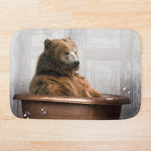 Bär in der Badewanne Badematte