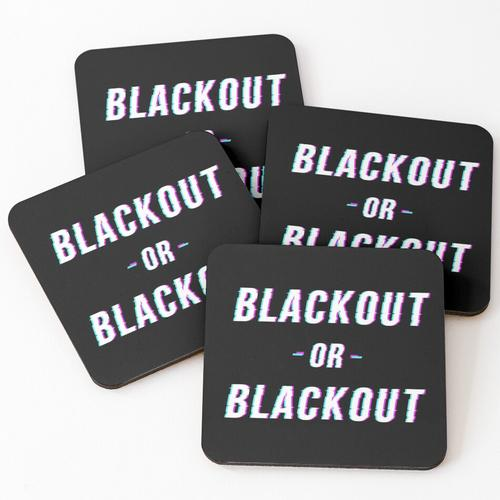 Blackout oder BlackOut Untersetzer