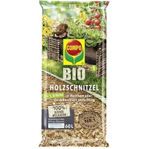 BIO Holzschnitzel 60 Liter, für Hochbeete oder Mulchmaterial, organisch - Compo