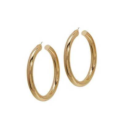 Boston Proper - Thick Statement Hoop Earrings - Gold - One Size