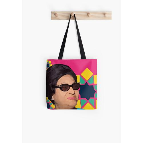 Umm Kulthum Pop Art Tasche