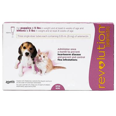 Revolution for Kittens / Puppies - Pink 3 Doses