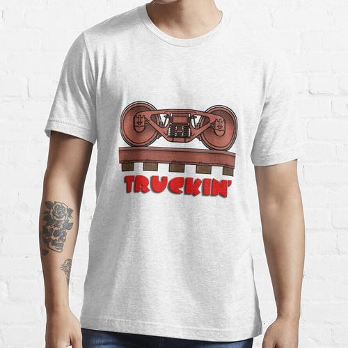 Truckin ', Eisenbahnwagen / Eisenbahndrehgestell Essential T-Shirt