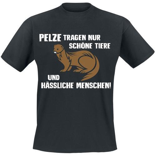 Pelze Herren-T-Shirt - schwarz