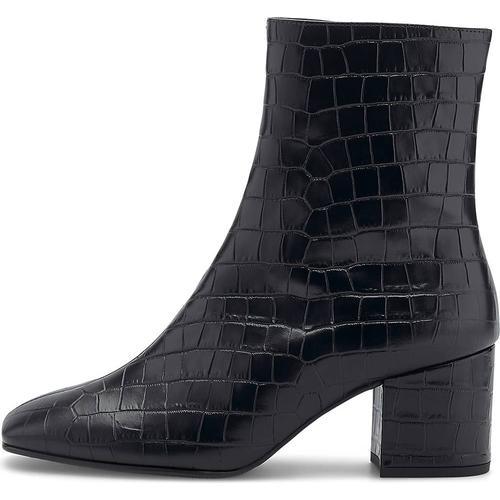 Högl, Kroko-Stiefelette in schwarz, Stiefeletten für Damen Gr. 37