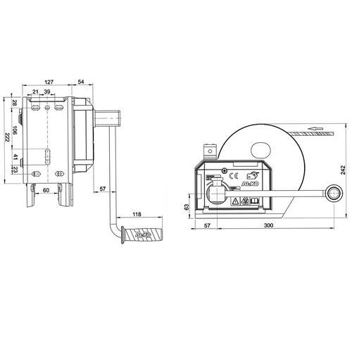 Al-ko Seilwinde Bootswinde Typ 1201a Abrollautomatik Zuglast 1150 Kg Al-ko: 173.00.18