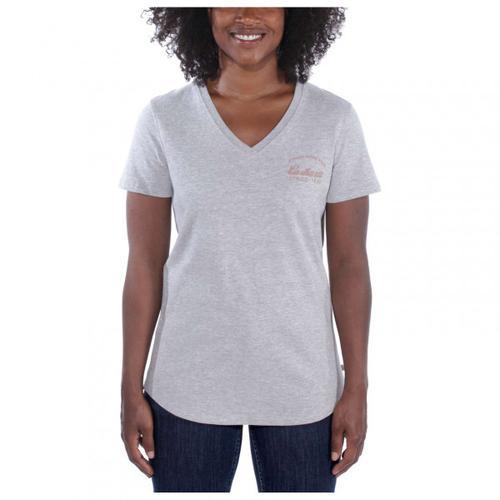 Carhartt - Women's Lockhart Graphic V-Neck - T-Shirt Gr XS grau
