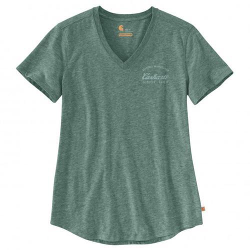 Carhartt - Women's Lockhart Graphic V-Neck - T-Shirt Gr L;M;S;XS grau;türkis/grau