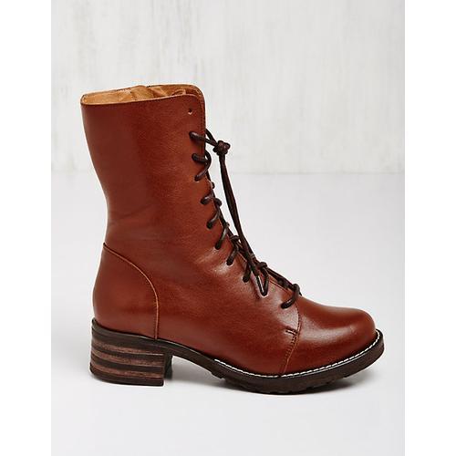 Brako Damen Leder-Stiefeletten Marga cognac Boots