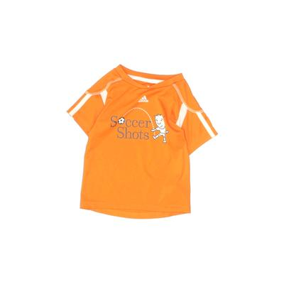 Adidas Active T-Shirt: Orange Solid Sporting & Activewear - Size X-Small