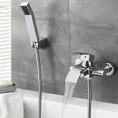 Badewannenarmatur mit Handbrause, Badezimmer Wannenarmatur Bad Wasserhahn Duschsystem Duschset