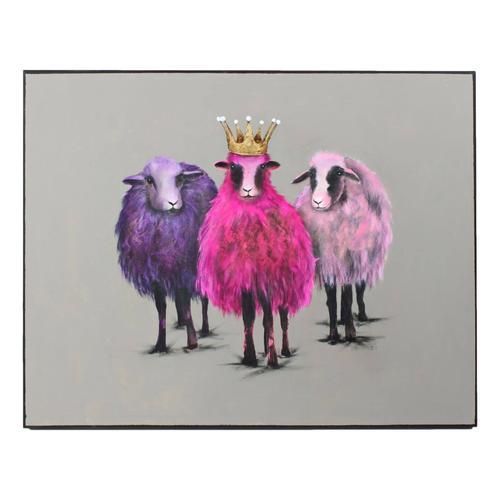 VOSS Design »Royal Sheep« Bild 100x80 cm