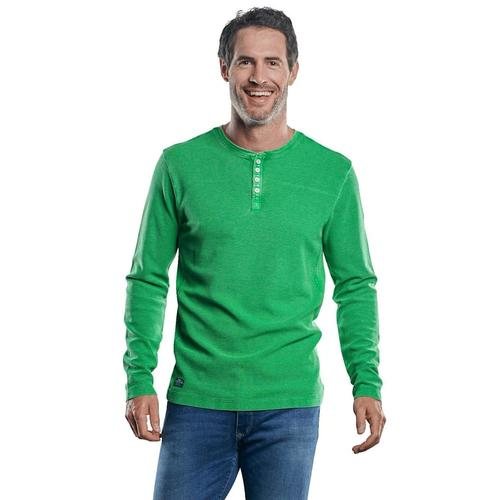 Strukturiertes Henley Shirt Engbers Grasgrün