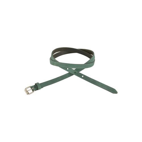 J.Jayz Ledergürtel, mit matter Oberfläche, Schließe altsilberfarben, Leichtes Vintage-Design grün Damen Ledergürtel Gürtel Accessoires
