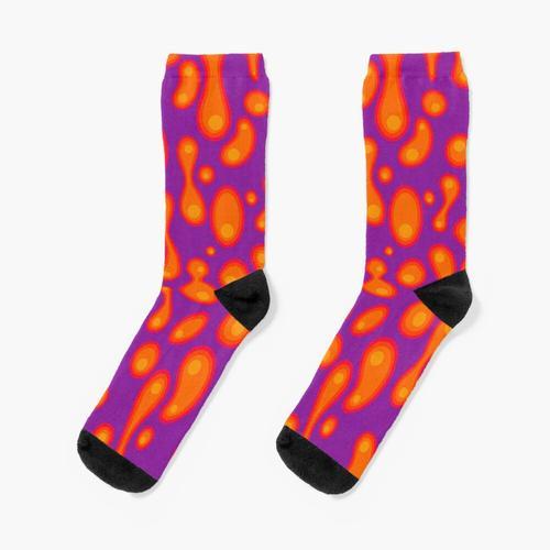 Lila Lavalampe Socken