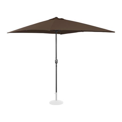 Uniprodo Sonnenschirm groß - braun - rechteckig - 200 x 300 cm