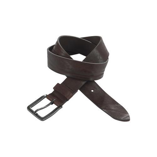 Jack & Jones Ledergürtel, Vintage-Look, genarbte Oberfläche braun Damen Ledergürtel Gürtel Accessoires