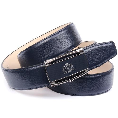 Anthoni Crown Ledergürtel, mit Hartglas-Schließe Logo blau Damen Ledergürtel Gürtel Accessoires