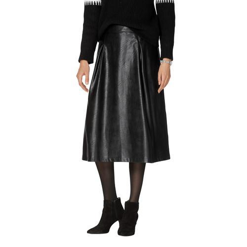 Amy Vermont Lederimitatrock, aus Lederimitat schwarz Damen Lederimitatröcke Röcke Lederimitatrock