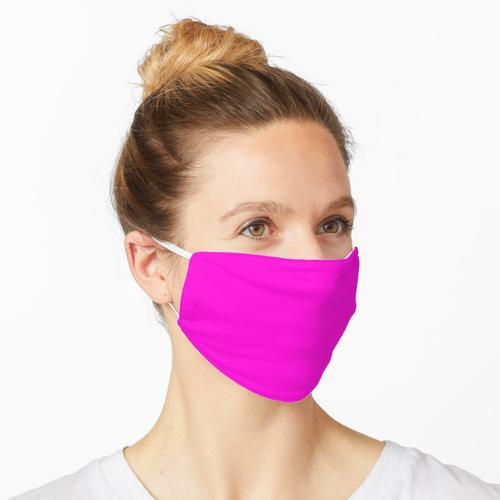 Fluoreszierendes Neon-Pink Maske
