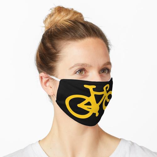 Gelbes Fahrrad Maske