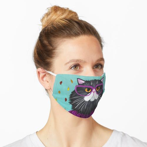 Der neue Herbstmantel der Katze Maske
