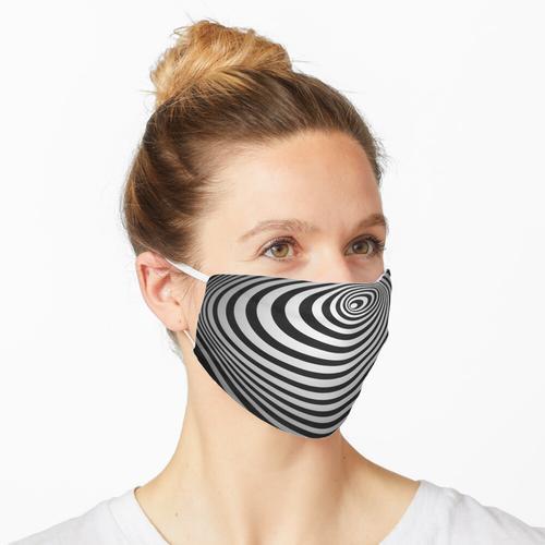 Schwindel Schwarzweiss Maske