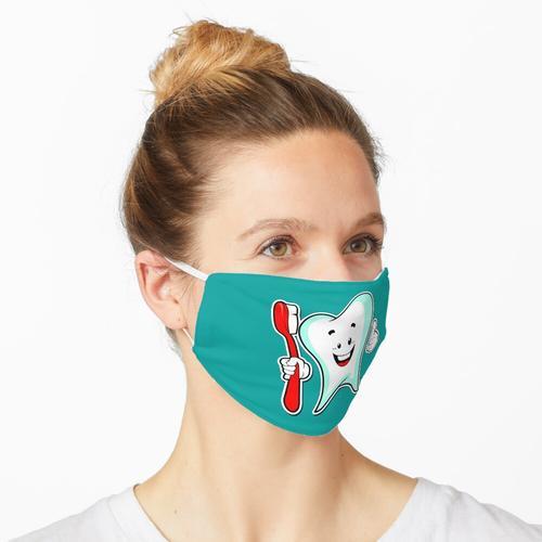 Zahn und Zahnbürste Maske