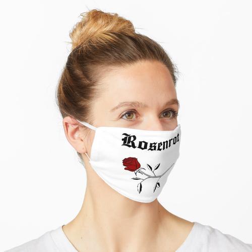 Rosenrot - Schwarz Maske