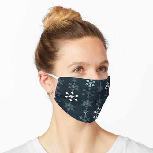 Schneeflocke Kristalle Kette Maske