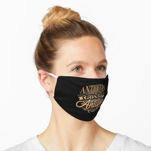 Antiquitätenhändler gehen Antiquitäten Maske