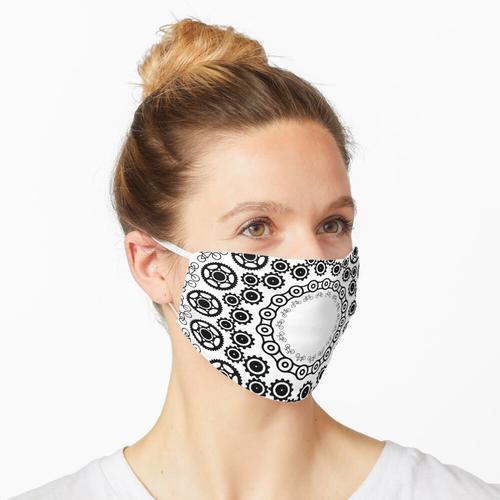 Mandala: Fahrrad + Zahnräder + Bremsscheibe Maske