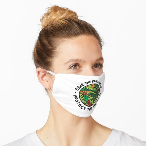 Retten Sie den Regenwald Schützen Sie den Naturschutz Maske