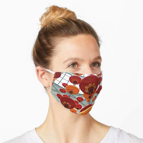 Chinesische rote Laternen Maske