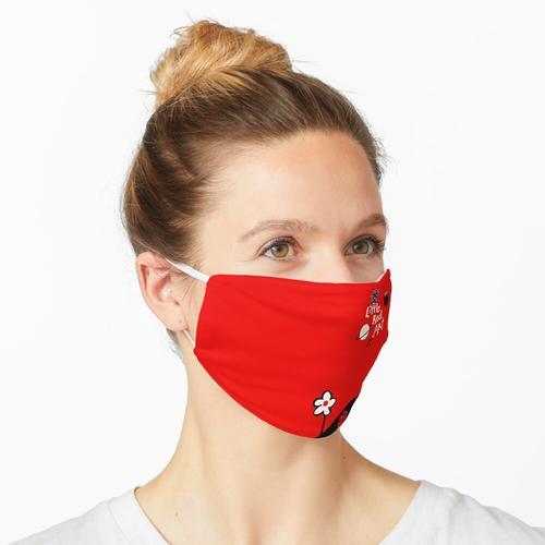 Kleine rote Kunst Maske