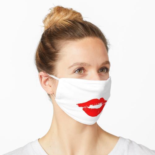 Roter Lippenstift Lippen Kuss Mund Maske