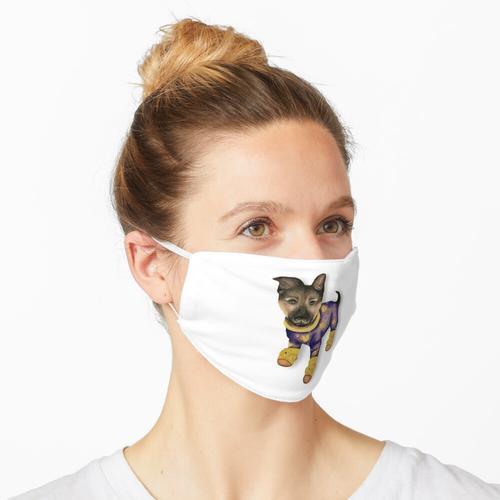 Welpe im Schlafanzug Maske