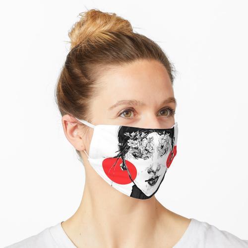 Rote Ohrringe Maske