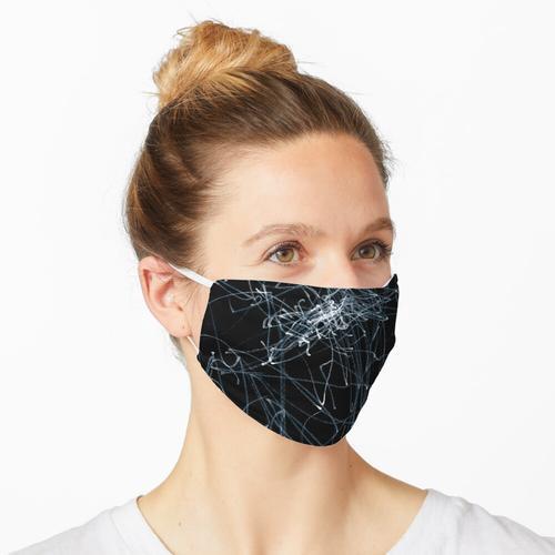 Weiße Linie auf schwarzem Papier Maske