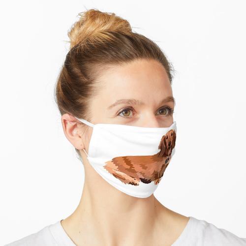 Langhaariger Dackel Maske