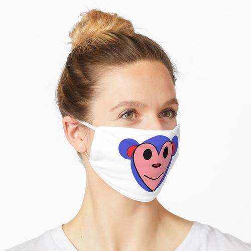 Lila Affengeschirrspüler Maske
