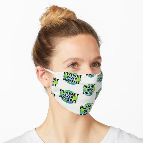 Planet über Profit - Tag der Erde; Klimaschutz Maske