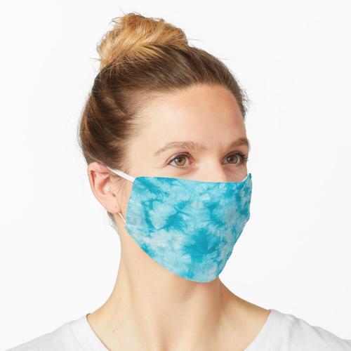 Hellblauer Tie Dye Maske
