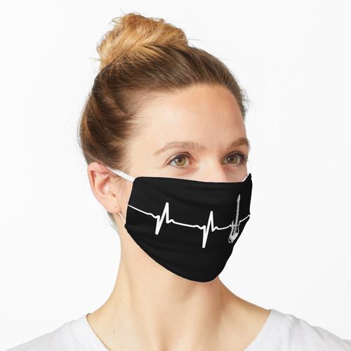 E-Gitarre Herzschlag Maske