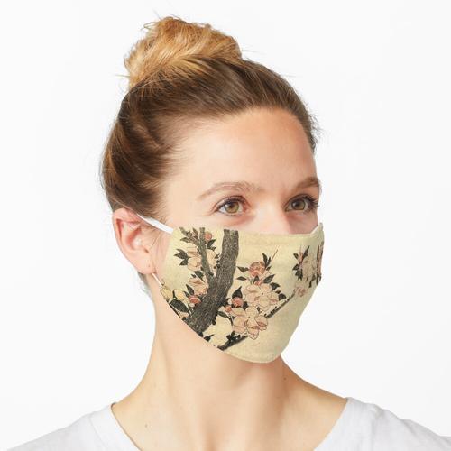 Kirschzweig in der Blüte Hokusai Maske