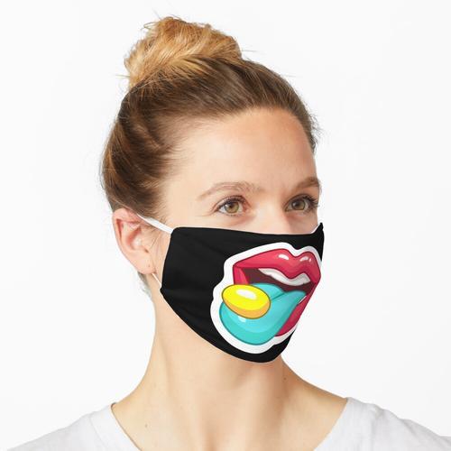 Mundschutz Frau Lippen Mund Pille Party Maske