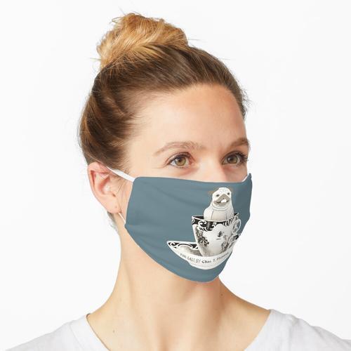 Mops in der Tasse Maske