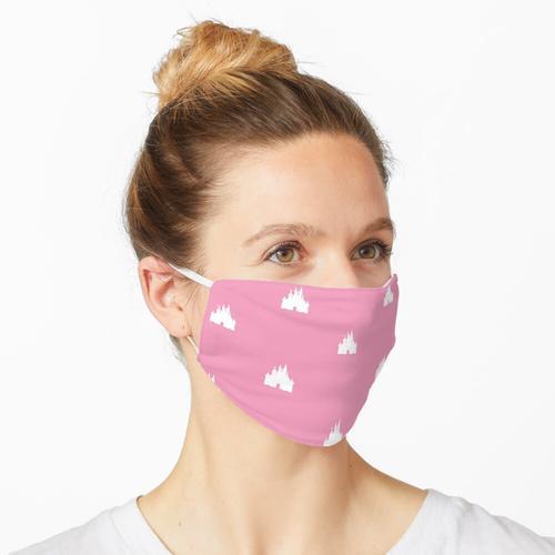 Rosa einfaches Schloss Maske
